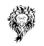 Lion in the form of a tattoo. Illustration Stock Photos