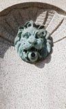 Lion Fountain d'ottone Fotografia Stock