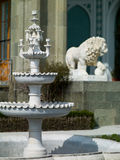 And the lion fountain made of marble Royalty Free Stock Photo