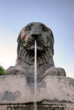 Lion Fountain near Palazzo Senatorio at Capitoline Hill. Stock Images