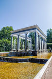 The lion fountain in Peterhof Stock Photography
