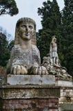 The lion fountain in Piazza del Popolo, Rome, Italy. Sphinx statue in Piazza del Popolo, in Rome, Italy stock images