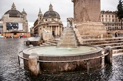 Lion fountain in Rome Stock Image