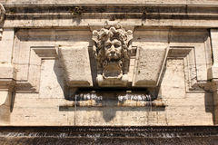 Lion Fountain Rome Italy Stock Photos