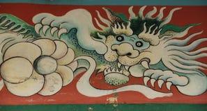 Lion Fresco fotografering för bildbyråer