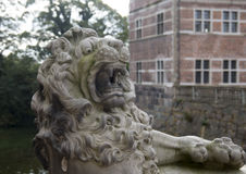 Lion in Friederiksborg castle royalty free stock photos