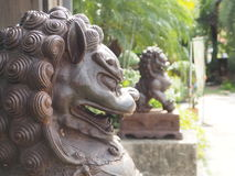 Lion at front main gate. Royalty Free Stock Photo