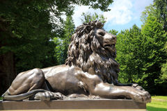 Lion in the garden of the castle Linderhof in Germany Royalty Free Stock Images