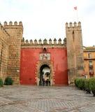 Lion Gate at the Alcazar. The Lion Gate entrance into the Alcazar, Seville, Spain Stock Images