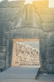 Lion Gate at ancient Mycenae 2 Stock Photography