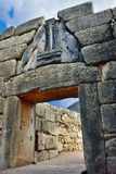 The Lion Gate in ancient Mycenae, Greece Stock Images