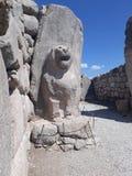 Lion Gate av Hattusha royaltyfria bilder