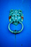 Lion Gate. Bell on old door Royalty Free Stock Photos