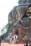 The Lion Gate and climbing stretch. Sigiriya rock. Sri Lanka. Sigiriya is an ancient rock fortress located in the northern Matale District near the town of Royalty Free Stock Photos