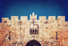 Lion Gate da parede antiga jerusalem Imagem de Stock Royalty Free