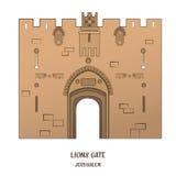 Lion Gate in Jerusalem Lizenzfreie Stockfotos
