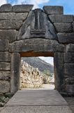 Lion Gate in Micene, Grecia immagini stock libere da diritti