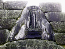 Lion Gate of Mycenae, Greece Royalty Free Stock Photos