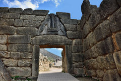 The Lion Gate in Mycenae, Greece Stock Photos