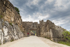 The Lion gate in Mycenae,Greece Stock Images