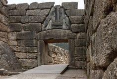 Lion Gate - Mycenae - la Grèce photographie stock