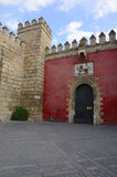 Lion gate in Seville Alcazar Stock Images