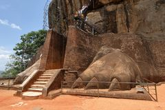 Lion Gate of Sigiriya in Sri Lanka. The Lion Gate of Sigiriya in Sri Lanka Royalty Free Stock Photos