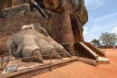 Lion Gate of Sigiriya in Sri Lanka. The Lion Gate of Sigiriya in Sri Lanka Royalty Free Stock Photo