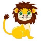 Lion gentil de bande dessinée Photos stock