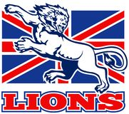 Lion Great Britain union jack flag Stock Photo