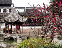 Lion Grove Garden, a classical Chinese garden and part of Unesco World Heritage in Suzhou royalty free stock photo