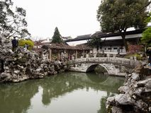 Lion Grove Garden, a classical Chinese garden and part of Unesco World Heritage in Suzhou. Suzhou, China - March 23, 2016: Springtime in Lion Grove Garden, a stock photos