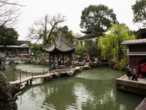 Lion Grove Garden, a classical Chinese garden and part of Unesco World Heritage in Suzhou stock images