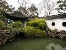 Lion Grove Garden, a classical Chinese garden and part of Unesco World Heritage in Suzhou. Suzhou, China - March 23, 2016: Quiet corner in Lion Grove Garden, a stock images