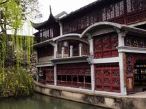 Lion Grove Garden, a classical Chinese garden and part of Unesco World Heritage in Suzhou royalty free stock images