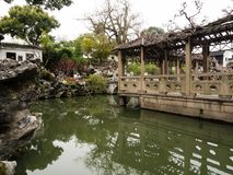 Lion Grove Garden, een klassiek Chinees tuin en een deel van Unesco-Werelderfenis in Suzhou royalty-vrije stock foto's