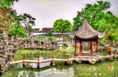 The Lion Grove Garden, a UNESCO heritage site in China royalty free stock photo
