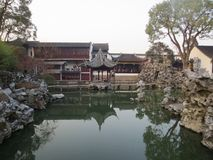 Suzhou Garden - Lion Forest. Lion Grove is mainly characterized by its lakeside rocks and rockeries royalty free stock photos