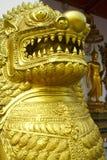 Lion Guard des Tempels Lizenzfreies Stockfoto
