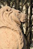 Lion guarding Brunswick monument, Alps garden, Geneva, Switzerla Royalty Free Stock Photography