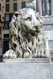 Lion guarding Saint Lawrence Cathedral Royalty Free Stock Photo