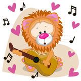 Lion with guitar Royalty Free Stock Photo
