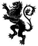 Lion héraldique illustration stock