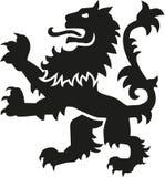 Lion héraldique d'arme avec des détails illustration libre de droits