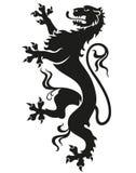 Lion héraldique de léopard images libres de droits
