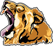 Lion had. Illustration  image created abstract Stock Photography