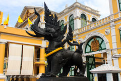 Lion half elephant statue Royalty Free Stock Image