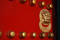 Lion handle door. A lion handle of an ancient Asian door Royalty Free Stock Photo