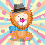 Lion with hat Stock Images