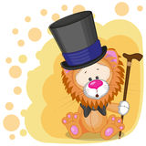 Lion in hat Royalty Free Stock Images